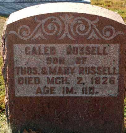 RUSSELL, CALEB - Gallia County, Ohio | CALEB RUSSELL - Ohio Gravestone Photos