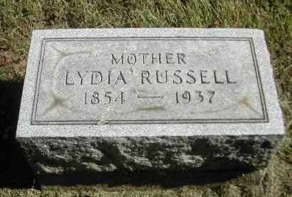 RUSSELL, LYDIA - Gallia County, Ohio | LYDIA RUSSELL - Ohio Gravestone Photos