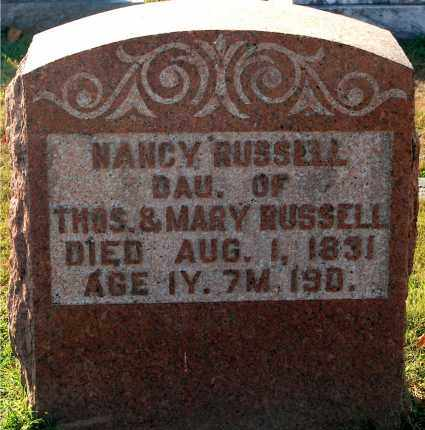 RUSSELL, NANCY - Gallia County, Ohio | NANCY RUSSELL - Ohio Gravestone Photos