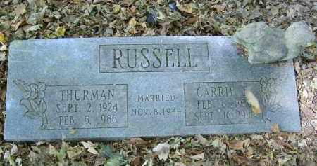 RUSSELL, THURMAN - Gallia County, Ohio | THURMAN RUSSELL - Ohio Gravestone Photos