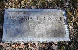 RUSSELL, VIRGINIA T. - Gallia County, Ohio | VIRGINIA T. RUSSELL - Ohio Gravestone Photos