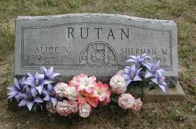 HATFIELD RUTAN, ALICE - Gallia County, Ohio | ALICE HATFIELD RUTAN - Ohio Gravestone Photos