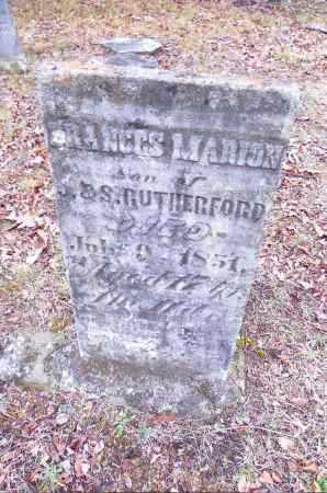 RUTHERFORD, FRANCES MARION - Gallia County, Ohio | FRANCES MARION RUTHERFORD - Ohio Gravestone Photos