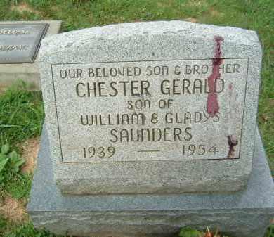 SAUNDERS, CHESTER GERALD - Gallia County, Ohio | CHESTER GERALD SAUNDERS - Ohio Gravestone Photos