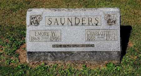 SAUNDERS, EMORY WILSON - Gallia County, Ohio | EMORY WILSON SAUNDERS - Ohio Gravestone Photos