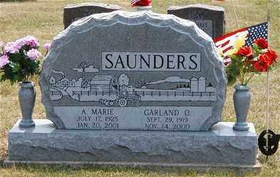 SAUNDERS, GARLAND O. - Gallia County, Ohio | GARLAND O. SAUNDERS - Ohio Gravestone Photos