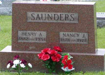 SAUNDERS, NANCY J. - Gallia County, Ohio | NANCY J. SAUNDERS - Ohio Gravestone Photos