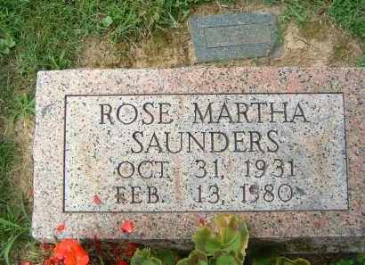 SAUNDERS, ROSE MARTHA - Gallia County, Ohio | ROSE MARTHA SAUNDERS - Ohio Gravestone Photos