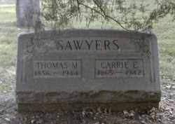 SAWYERS, CARRIE - Gallia County, Ohio | CARRIE SAWYERS - Ohio Gravestone Photos
