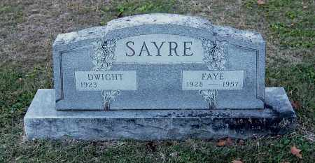 SAYRE, DWIGHT - Gallia County, Ohio | DWIGHT SAYRE - Ohio Gravestone Photos