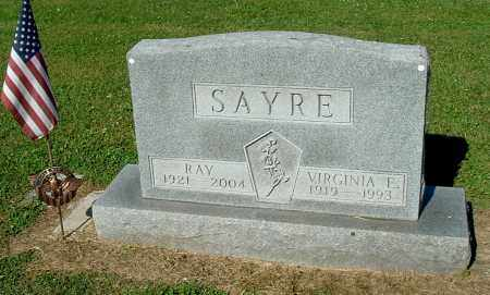 SAYRE, VIRGINIA E - Gallia County, Ohio | VIRGINIA E SAYRE - Ohio Gravestone Photos