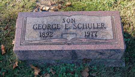 SCHULER, GEORGE E - Gallia County, Ohio | GEORGE E SCHULER - Ohio Gravestone Photos