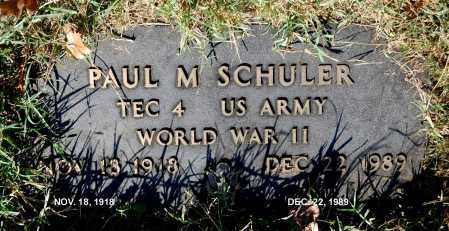 SCHULER, PAUL M - Gallia County, Ohio | PAUL M SCHULER - Ohio Gravestone Photos