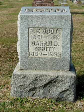 SCOTT, BENJAMIN F - Gallia County, Ohio | BENJAMIN F SCOTT - Ohio Gravestone Photos