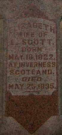 SCOTT, ELIZABETH (CLOSE-UP) - Gallia County, Ohio | ELIZABETH (CLOSE-UP) SCOTT - Ohio Gravestone Photos