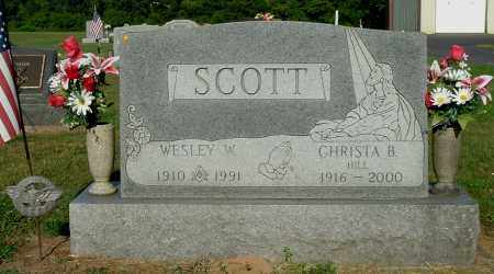 HILL SCOTT, CHRISTA B - Gallia County, Ohio | CHRISTA B HILL SCOTT - Ohio Gravestone Photos