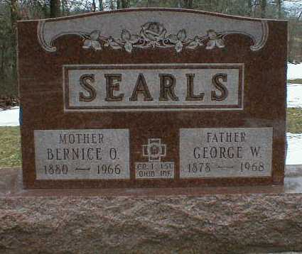 SEARLS, GEORGE - Gallia County, Ohio | GEORGE SEARLS - Ohio Gravestone Photos