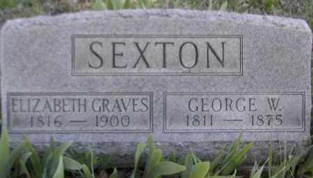 GRAVES SEXTON, ELIZABETH - Gallia County, Ohio | ELIZABETH GRAVES SEXTON - Ohio Gravestone Photos