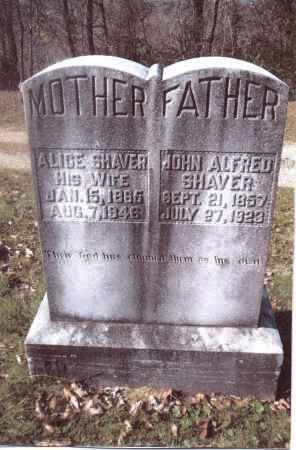 SHAVER, ALICE - Gallia County, Ohio | ALICE SHAVER - Ohio Gravestone Photos