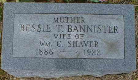 BANNISTER SHAVER, BESSIE - Gallia County, Ohio | BESSIE BANNISTER SHAVER - Ohio Gravestone Photos