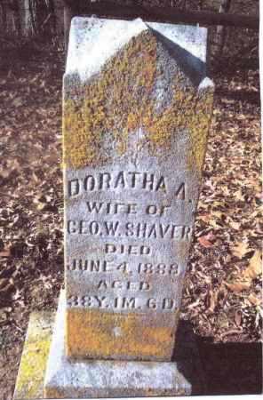 SHAVER, DORATHA A. - Gallia County, Ohio | DORATHA A. SHAVER - Ohio Gravestone Photos