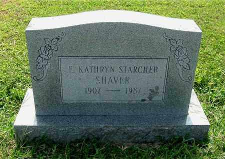 STARCHER SHAVER, E. KATHRYN - Gallia County, Ohio | E. KATHRYN STARCHER SHAVER - Ohio Gravestone Photos