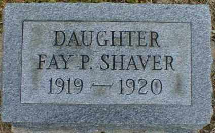 SHAVER, FAY - Gallia County, Ohio | FAY SHAVER - Ohio Gravestone Photos