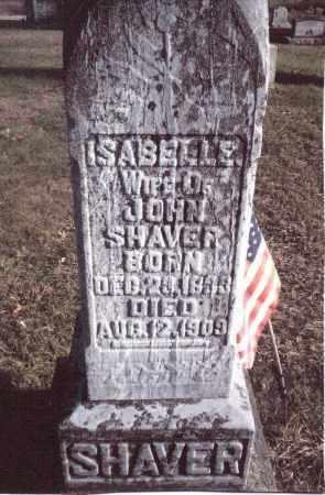 SHAVER, ISABELLE - Gallia County, Ohio | ISABELLE SHAVER - Ohio Gravestone Photos