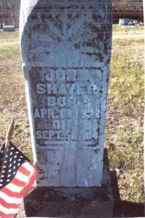 SHAVER, JOHN - Gallia County, Ohio | JOHN SHAVER - Ohio Gravestone Photos