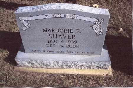 SHAVER, MARJORIE E. - Gallia County, Ohio | MARJORIE E. SHAVER - Ohio Gravestone Photos
