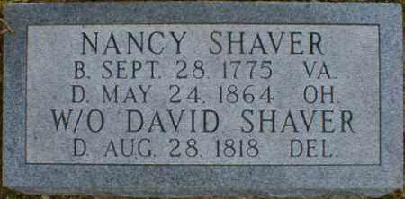 SHAVER, NANCY - Gallia County, Ohio | NANCY SHAVER - Ohio Gravestone Photos