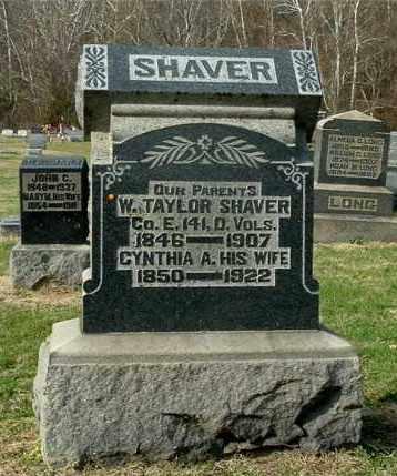 DARST SHAVER, CYNTHIA A - Gallia County, Ohio | CYNTHIA A DARST SHAVER - Ohio Gravestone Photos
