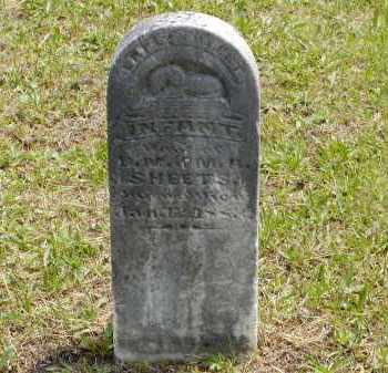 SHEETS, INFANT - Gallia County, Ohio | INFANT SHEETS - Ohio Gravestone Photos