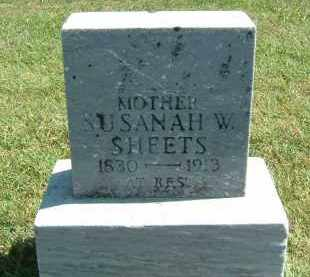 SHEETS, SUSANAH W. - Gallia County, Ohio | SUSANAH W. SHEETS - Ohio Gravestone Photos