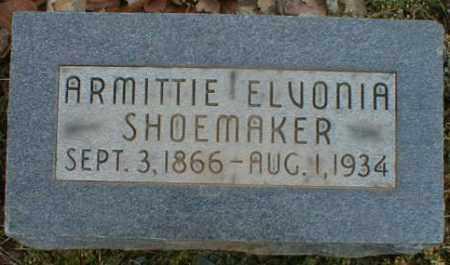 BARRETT SHOEMAKER, ARMITTIE - Gallia County, Ohio | ARMITTIE BARRETT SHOEMAKER - Ohio Gravestone Photos