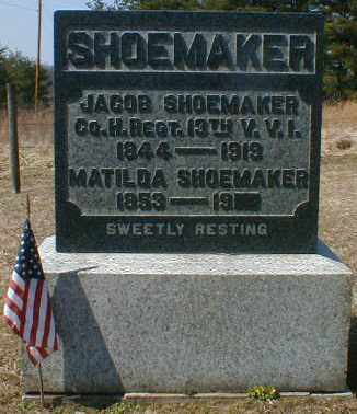 SHOEMAKER, MATILDA - Gallia County, Ohio | MATILDA SHOEMAKER - Ohio Gravestone Photos