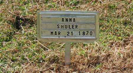 SHULER, ANNA - Gallia County, Ohio | ANNA SHULER - Ohio Gravestone Photos
