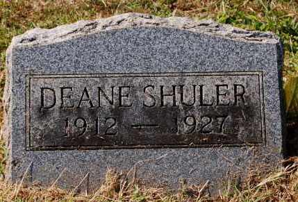 SHULER, DEANE - Gallia County, Ohio | DEANE SHULER - Ohio Gravestone Photos