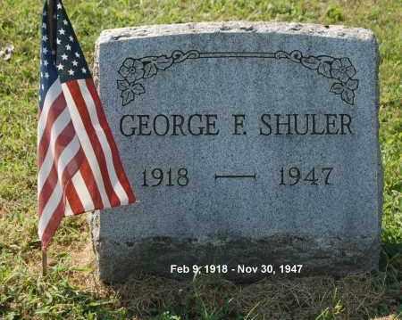 SHULER, GEORGE F - Gallia County, Ohio | GEORGE F SHULER - Ohio Gravestone Photos
