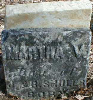 SHULER, MARTHA - Gallia County, Ohio | MARTHA SHULER - Ohio Gravestone Photos