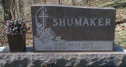WILT SHUMAKER, MARY - Gallia County, Ohio | MARY WILT SHUMAKER - Ohio Gravestone Photos