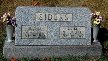SIDERS, CHARLES E - Gallia County, Ohio | CHARLES E SIDERS - Ohio Gravestone Photos