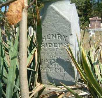 SIDERS, HENRY - Gallia County, Ohio | HENRY SIDERS - Ohio Gravestone Photos