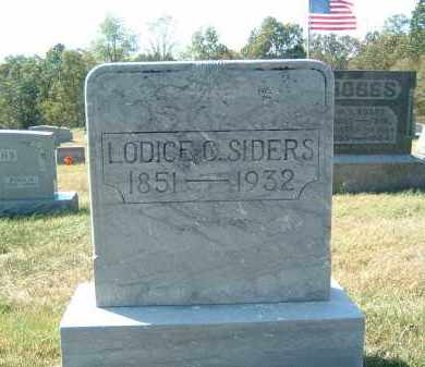 SIDERS, LODICE C - Gallia County, Ohio | LODICE C SIDERS - Ohio Gravestone Photos