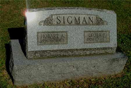 SIGMAN, LEORA F - Gallia County, Ohio | LEORA F SIGMAN - Ohio Gravestone Photos