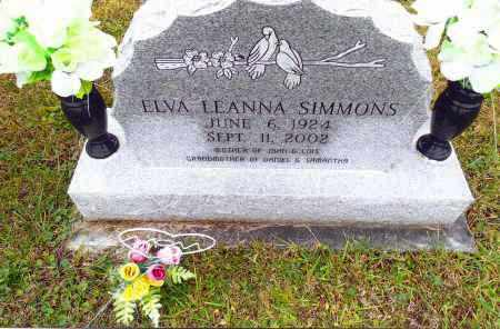 SIMMONS, ELVA LEANNA - Gallia County, Ohio | ELVA LEANNA SIMMONS - Ohio Gravestone Photos