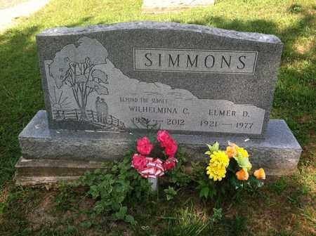 SIMMONS, WILHELMINA - Gallia County, Ohio | WILHELMINA SIMMONS - Ohio Gravestone Photos