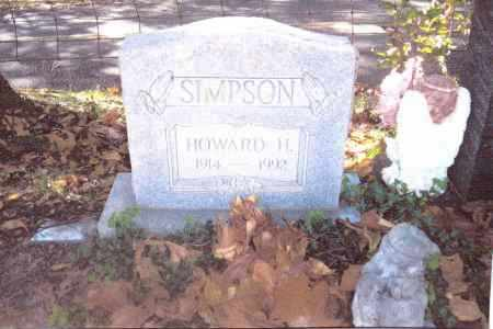 SIMPSON, HOWARD H. - Gallia County, Ohio | HOWARD H. SIMPSON - Ohio Gravestone Photos