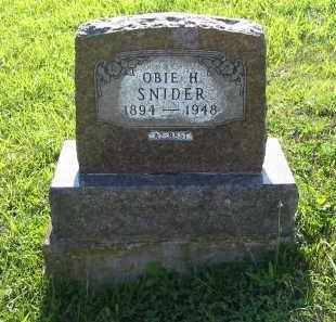 SNIDER, OBIE H. - Gallia County, Ohio   OBIE H. SNIDER - Ohio Gravestone Photos