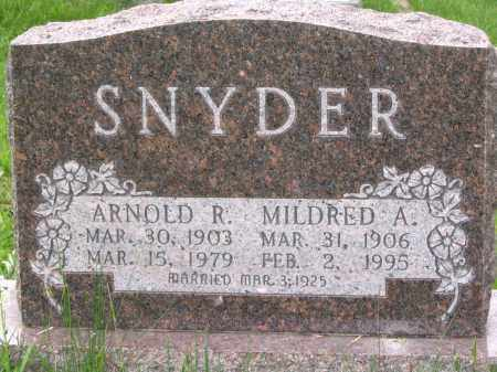SNYDER, ARNOLD R. - Gallia County, Ohio | ARNOLD R. SNYDER - Ohio Gravestone Photos